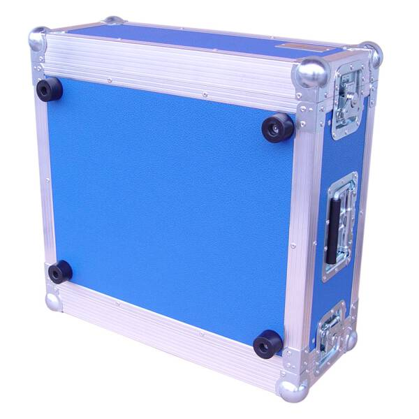 4 HE Rack 19 Double Door 39 CM Flightcase blau RSH