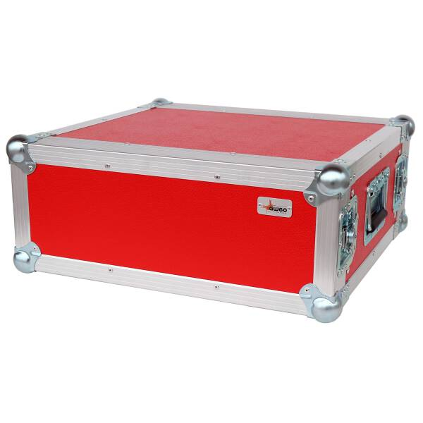 4 HE Rack 19 Double Door 39 CM Flightcase rot