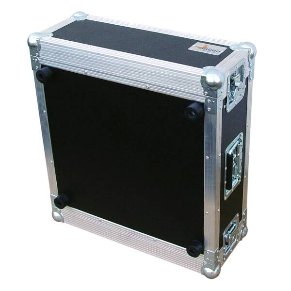 4 HE Rack 19 Double Door 39 CM Flightcase grau