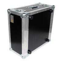 """5 HE Rack 19"""" Double Door 39 CM Flightcase 7 mm MPX"""