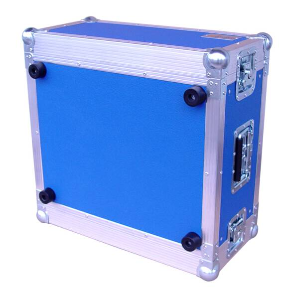 5 HE Amp Rack 19 Double Door 45 CM Flightcase blau