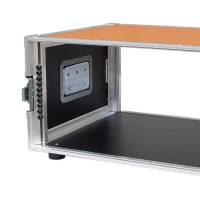 """5 HE Amp Rack 19"""" Double Door 45 CM Flightcase orange RSH"""