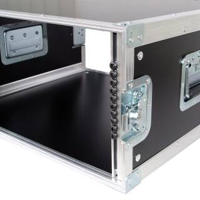 """5 HE Rack 19"""" Double Door 39 CM Flightcase Phenol schwarz"""
