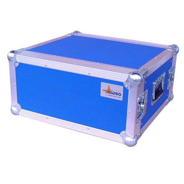 5 HE Rack 19 Double Door 39 CM Flightcase blau