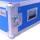 """5 HE Rack 19"""" Double Door 39 CM Flightcase blau"""