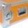 """5 HE Rack 19"""" Double Door 39 CM Flightcase orange"""