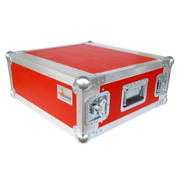 5 HE Rack 19 Double Door 39 CM Flightcase rot