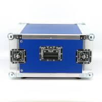 """6 HE Amp Rack 19"""" Double Door 45 CM Flightcase blau"""