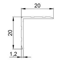 Adam Hall 6209 Aluminium Kantenschutz 20x20 mm