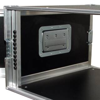 """6 HE Amp Rack 19"""" Double Door 45 CM Flightcase grau"""