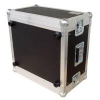"""6 HE Amp Rack 19"""" Double Door 45 CM Flightcase grau RSH"""