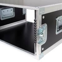 """6 HE Rack 19"""" Double Door 39 CM Flightcase Phenol schwarz"""