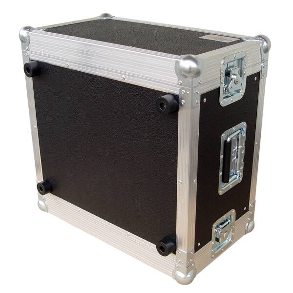 6 HE Rack 19 Double Door 39 CM Flightcase PVC schwarz