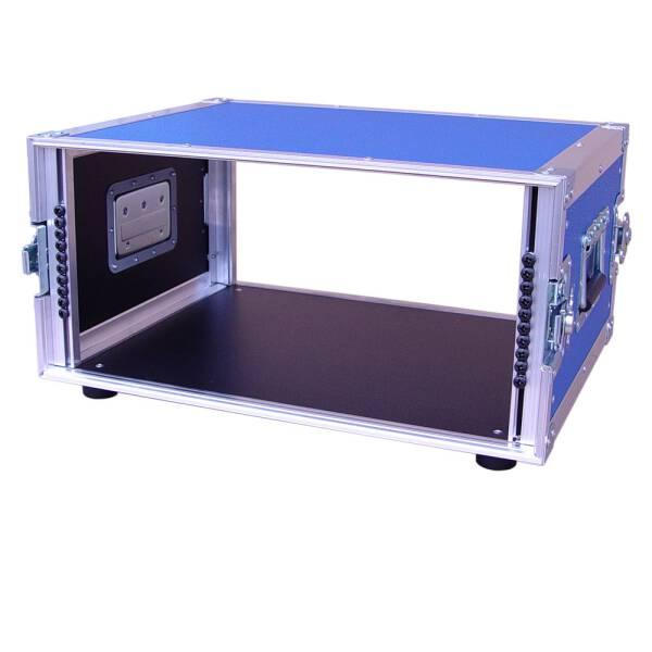 6 HE Rack 19 Double Door 39 CM Flightcase blau RSH