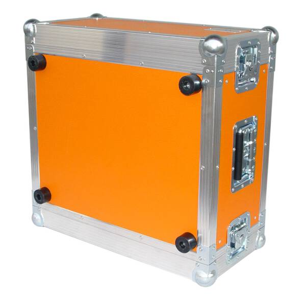 6 HE Rack 19 Double Door 39 CM Flightcase orange