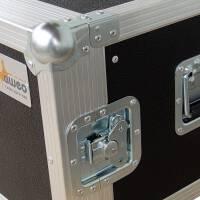 """6 HE Rack 19"""" Double Door 39 CM Flightcase grau"""