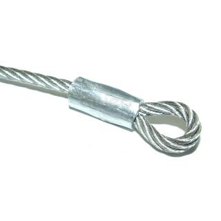 Adam Hall 2715 - Stahlseil Deckelaufsteller rostfrei 30 cm