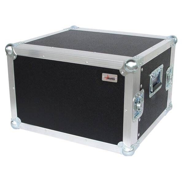 8 HE Amp Rack 19 Double Door 45 CM Flightcase 7 mm MPX
