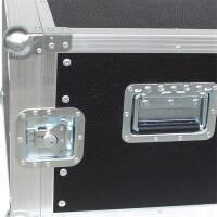 """8 HE Rack 19"""" Double Door 39 CM Flightcase Phenol schwarz"""