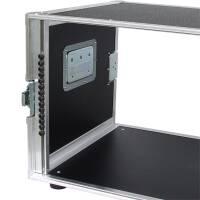 """8 HE Rack 19"""" Double Door 39 CM Flightcase PVC schwarz"""