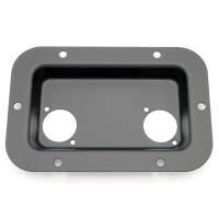 Adam Hall 8708 BLK Boxen Einbauplatte schwarz für 2...