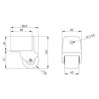 Adam Hall 3780 - Kantenaufbaurolle 50 mm