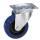 Guitel 37023 Lenkrolle 100 mm mit blauem Rad