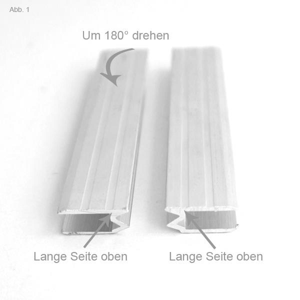 Hybrid Schließprofil lange Kanten oben